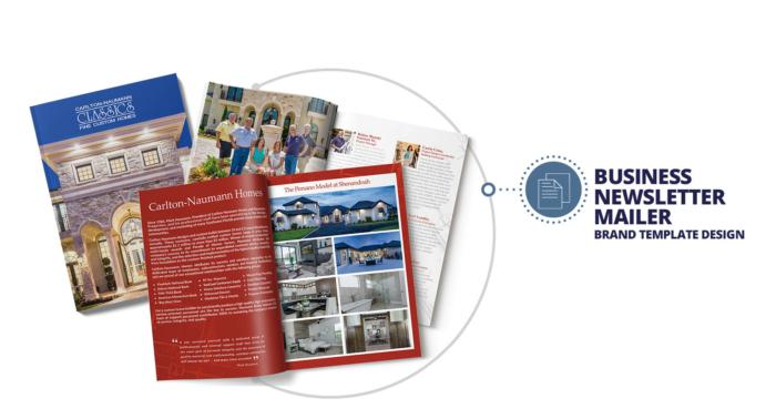 mage of Quenzel Marketing Agency | Custom Newsletter Mailer Template Design