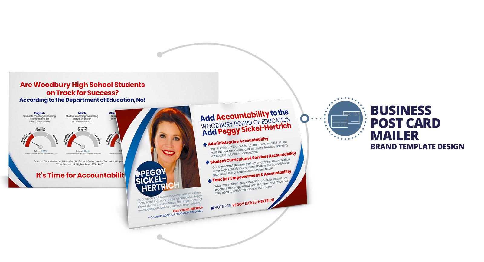 Marketing Agency | Custom Post Card Mailer Template Design