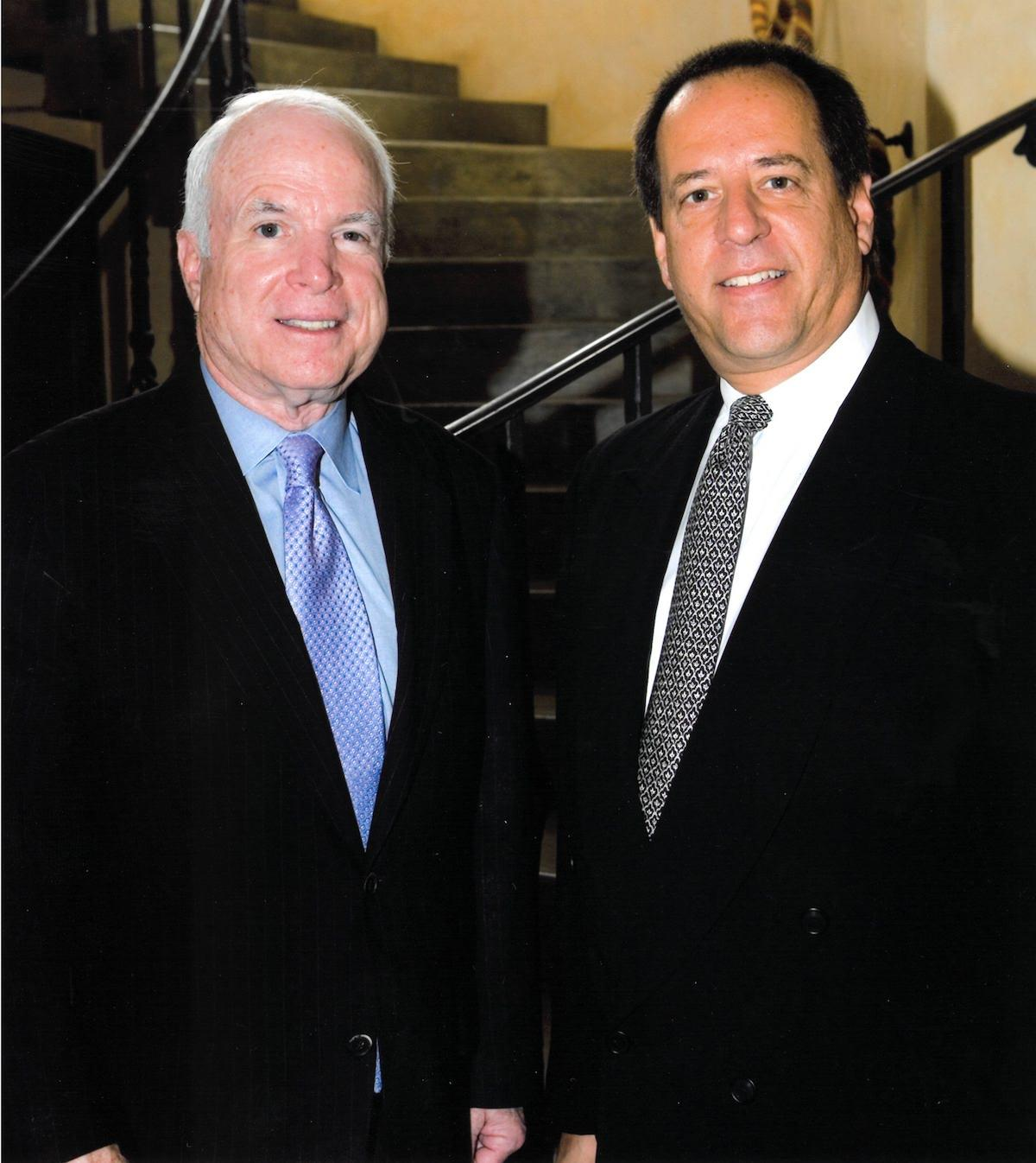 Quenzel Marketing Agency Partner, Earl Quenzel & Senator John McCain.