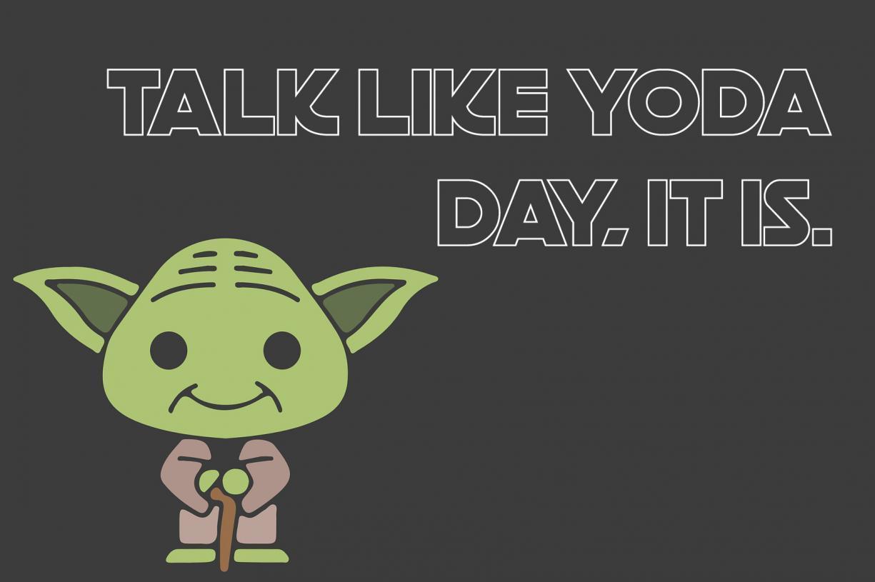 Picture Of a Cartoon Yoda for Talk Like Yoda Day - Talk like Yoda Day, it is.