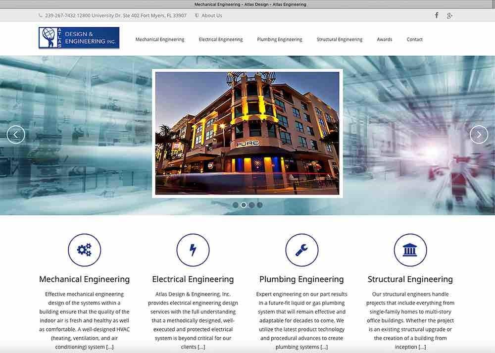 Construction Website Design Agency   Atlas