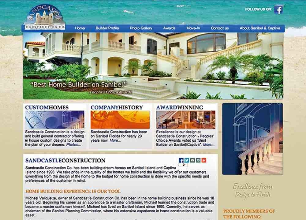 Construction Website Design Agency   Sandcastle