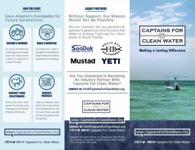 image custom brochure design charity marketing - Captains For Clean Water