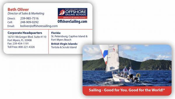 image custom business cards design travel industry OSS Business Card
