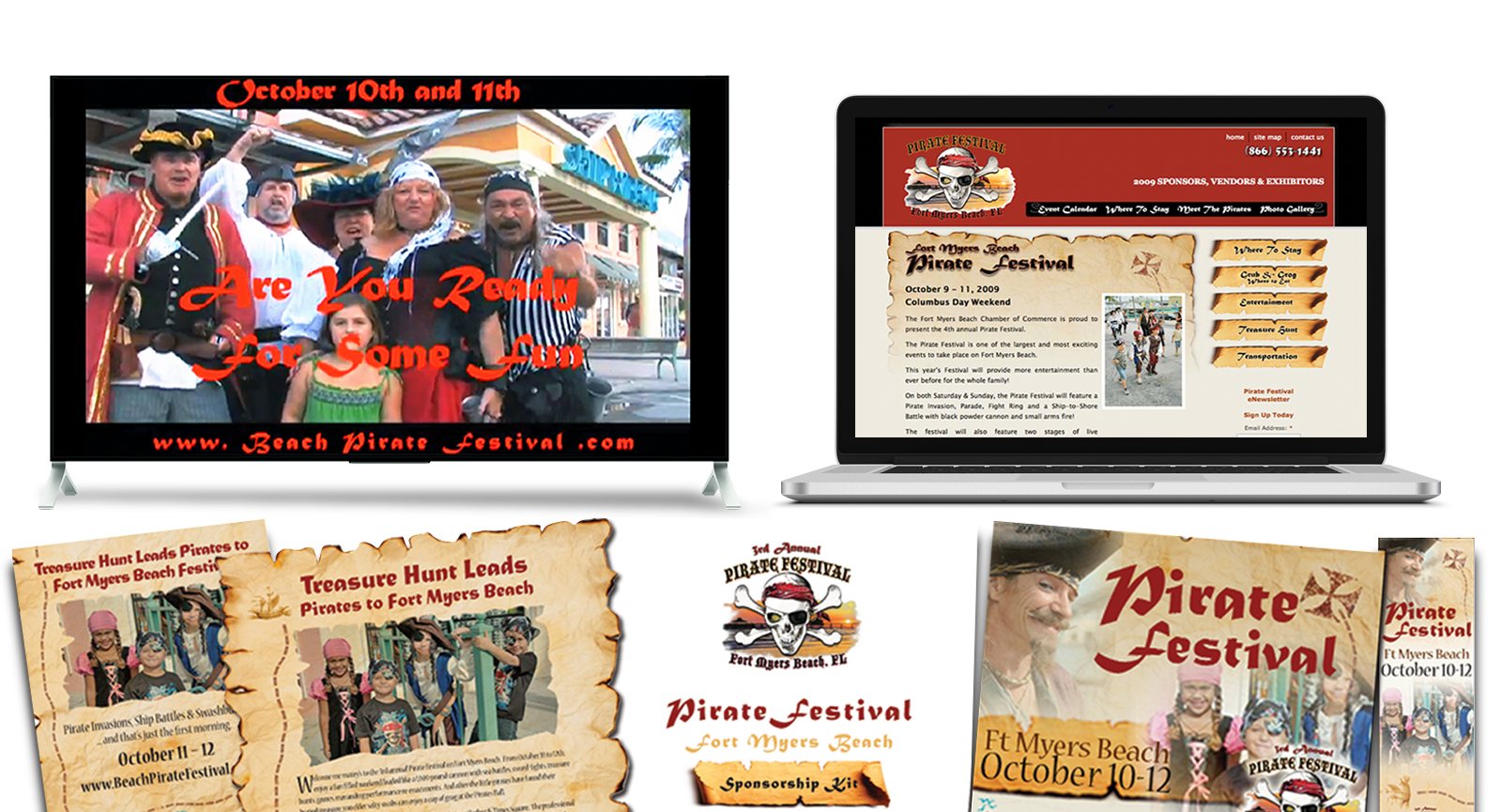 Destination Marketing Agency Creative for Fort Myers Beach Pirate Festival