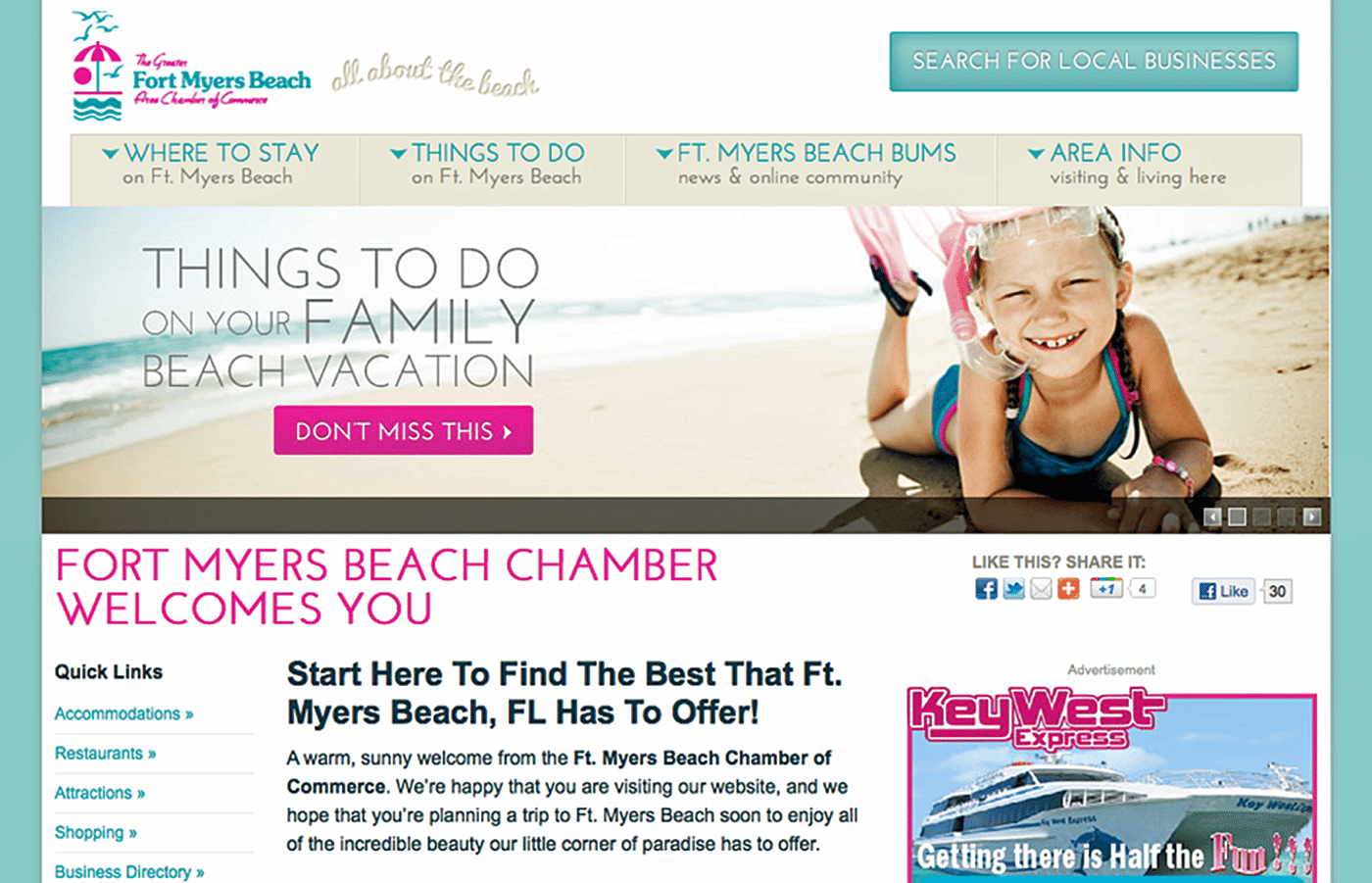 Destination Website Design Agency Creative | Fort Myers Beach