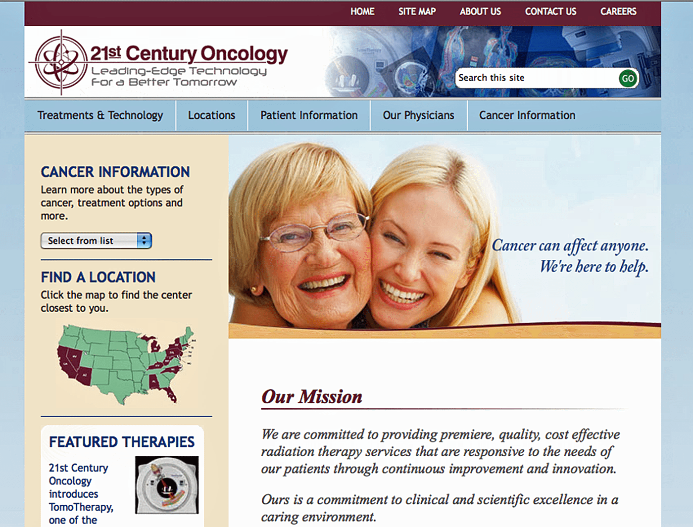 Healthcare Website Design Agency Creative | 21st Century Oncology