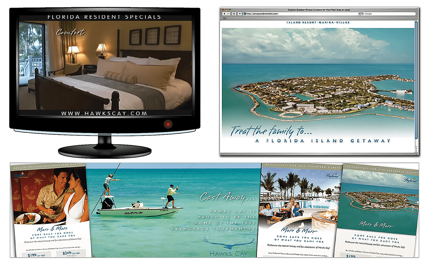 Integrated Hotel Advertising Agency Creative for Hawks Cay