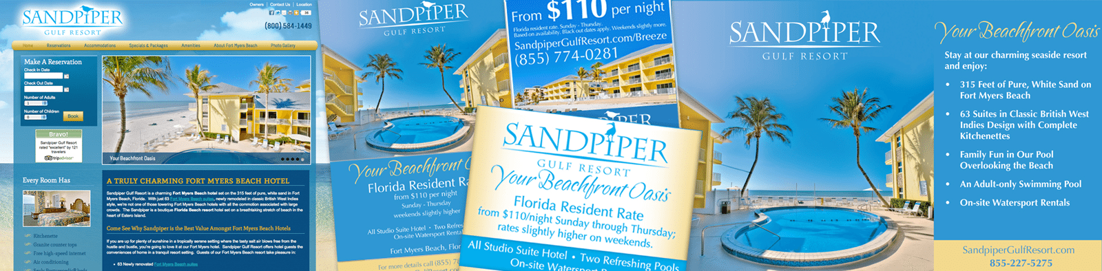 Hotel Branding Agency Creative for SandPiper Gulf Resort