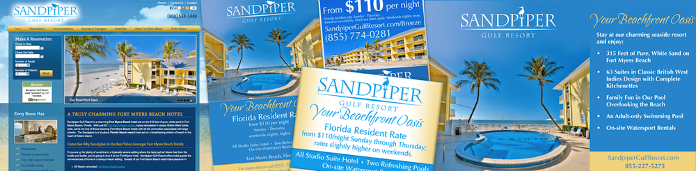 Quenzel Hotel Marketing Agency Creative | Sandpiper