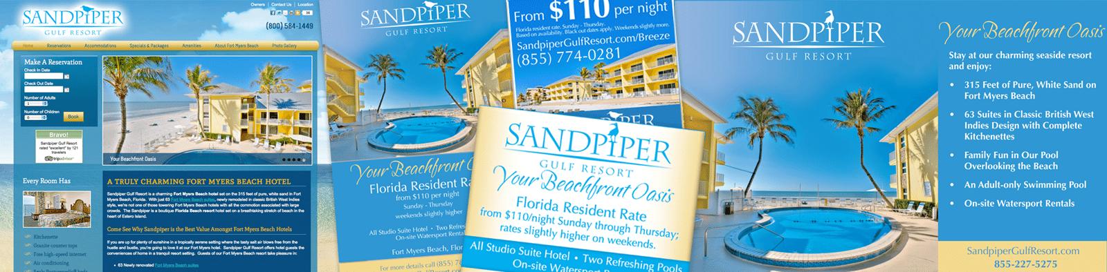 Hotel Marketing Agency - Hotel Marketing Campaign Creative for SandPiper Gulf Resort