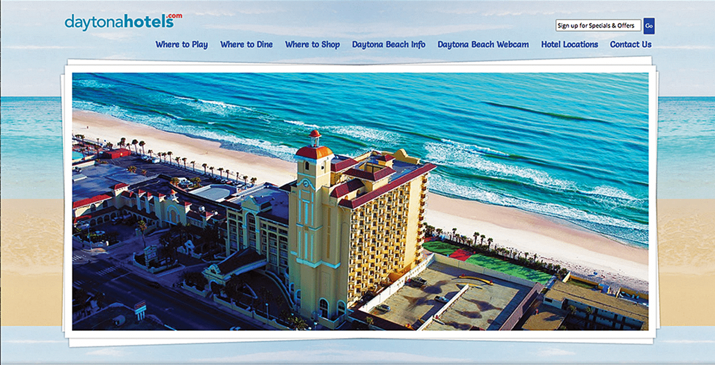 Hotel Website Design Agency Creative | Daytona Hotels