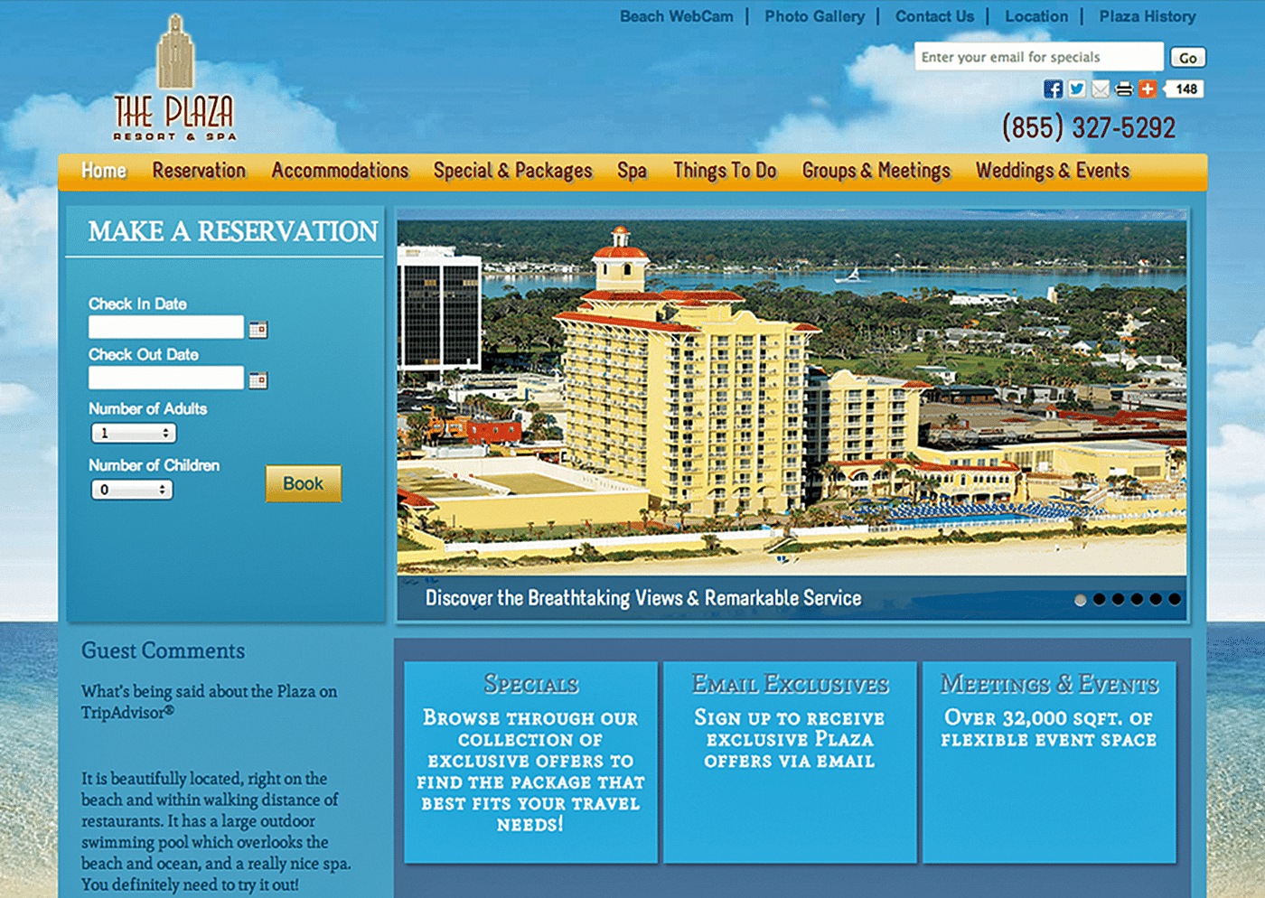 Hotel Website Design Agency Creative | Plaza