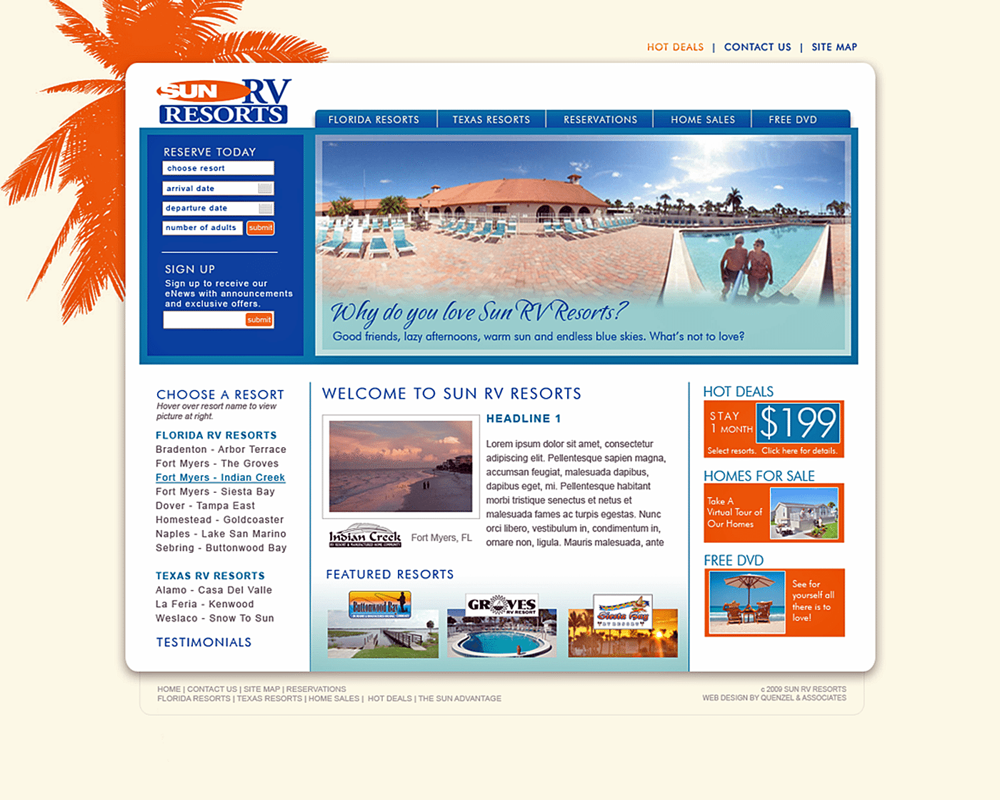 Hotel Website Design Agency Creative | Sun RV