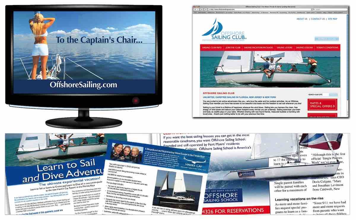 Marine Advertising Agency Creative for Offshore Sailing School