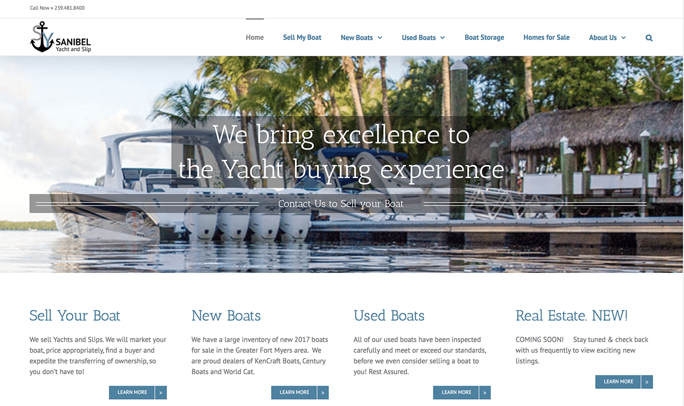 Marine Website Design Agency | Boat Sales