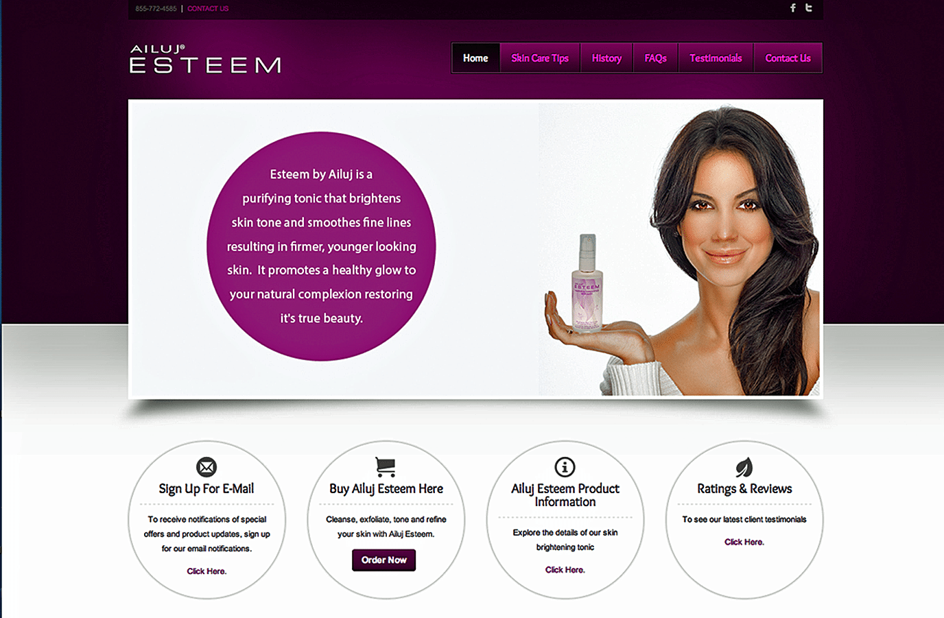 Product Website Design Agency Creative | Cosmetics