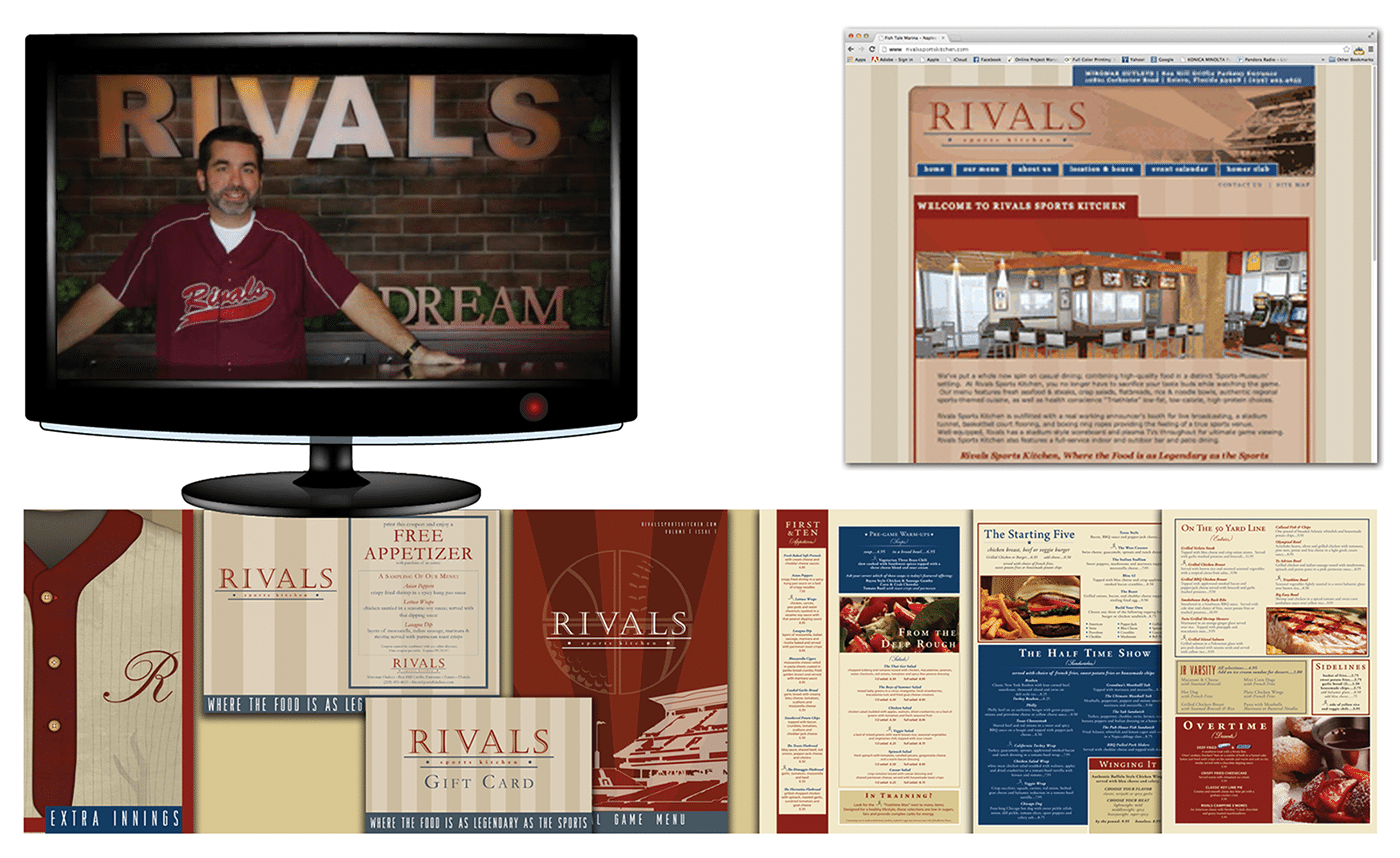 Restaurant Advertising Agency Creative | Integrated Advertising Campaign: Sports Bar & Kitchen