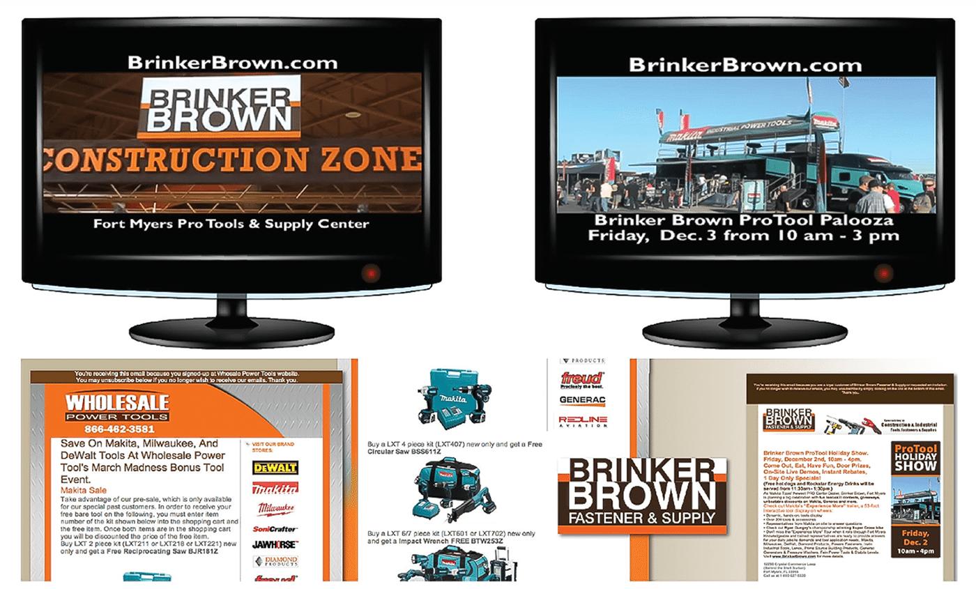 Retail Advertising Agency Creative for Brinker Brown