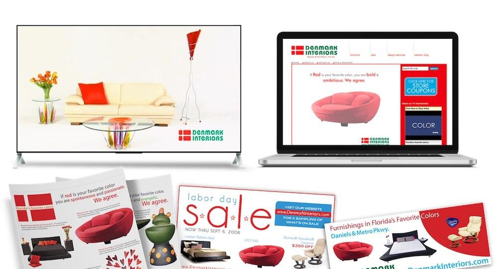 Quenzel Retail Marketing Agency Creative   Fort Myers, Florida - Denmark Interiors