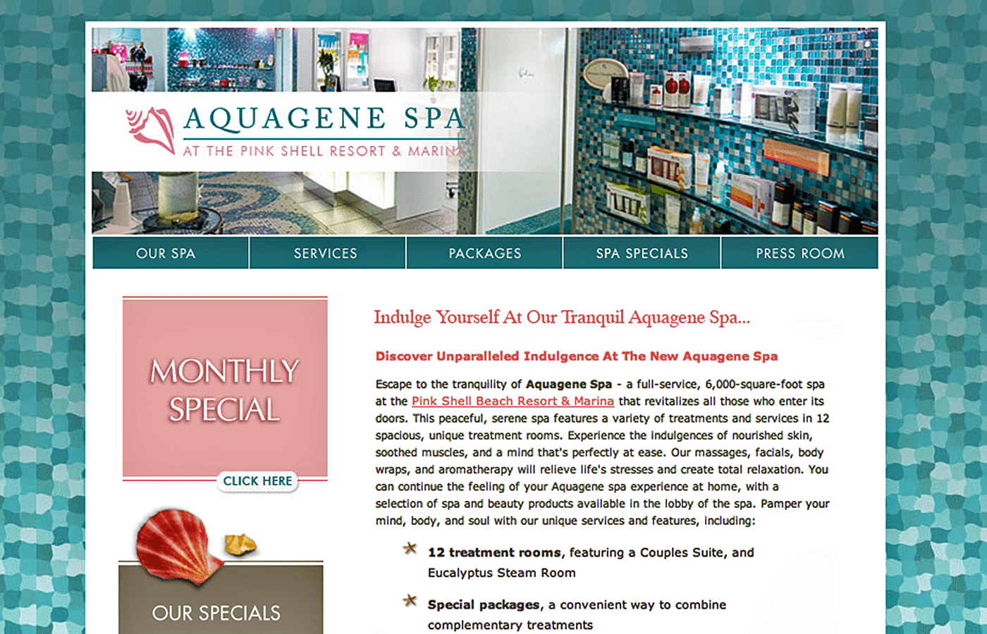 Retail Website Design Agency Creative | Day Spa