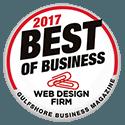 2017 Best Website Design Firm Award