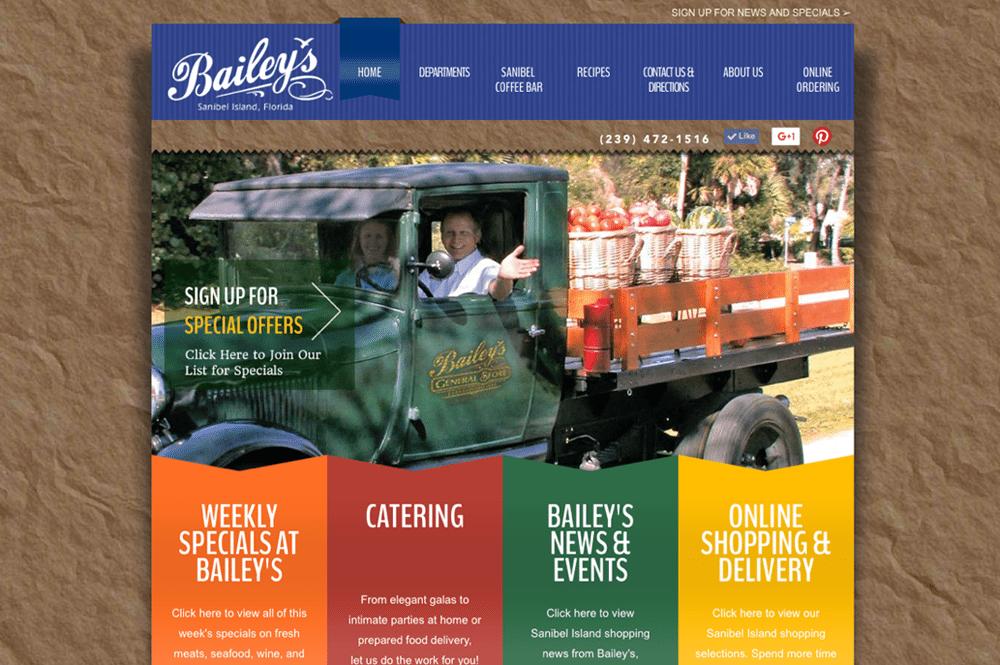 Quenzel Retail Website Design Agency - Bailey's