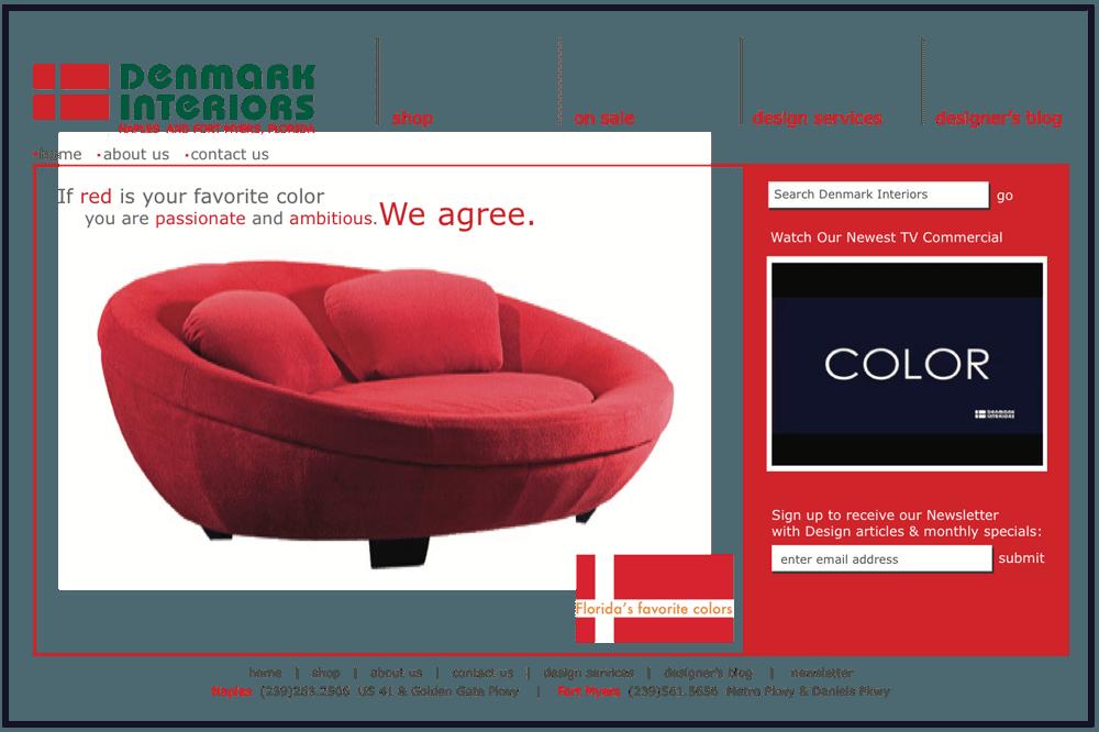Quenzel Retail Website Design Agency - Denmark Interiors
